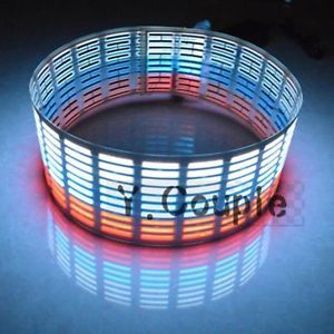 "35"" 3"" Car Music Rhythm LED Flash Colorful Light Lamp Sound Activated Equalizer"