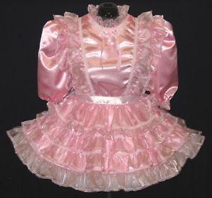 Pink Sparkle Organza Ruffles Adult Baby Sissy Dress Leanne