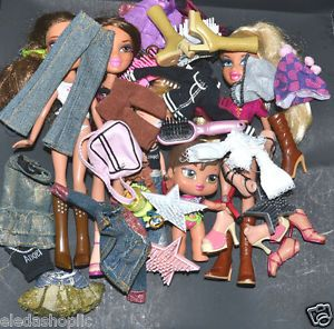 Bratz Dolls Kidz Baby Doll Clothes Shoes Lot Clothes Fit Monster High