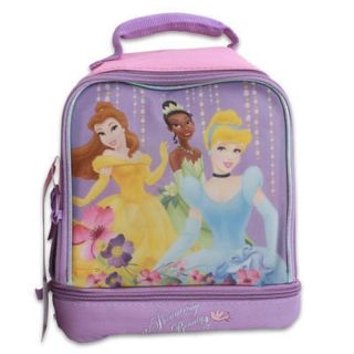 Lunch Bag 2 Compartments Disney Princesses Belle Tiana Cinderella New