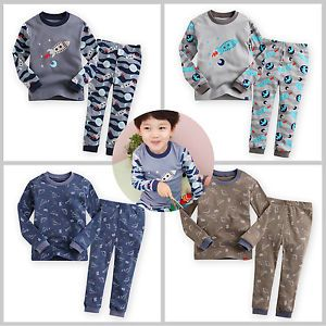 "2pcs Vaenait Baby Toddler Kids Boy Clothes Sleepwear Pajama Set ""Fly Boy"""