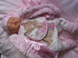 Sleeping Sophia Baby Girl Reborn Doll Sculpt by Nines D'Onil All New Clothes