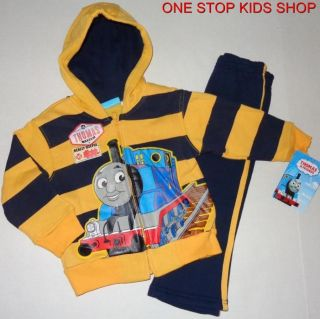 Thomas The Train Toddler Boys 2T 3T 4T 5T Hoodie Outfit Shirt Pants Sweatshirt