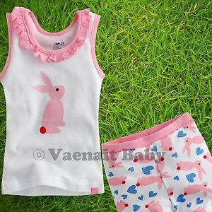 """2pcs Vaenait Baby Toddler Kids Clothes Top Shorts Outfit """"One Point Pink"""" 2 3Y"""