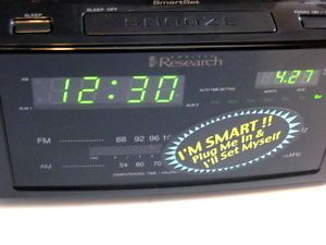 Emerson Research Smartset Clock Radio CKS2000 Dual Alarm Variable Program New