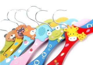 8 x Cartoon Baby Children Kids Nursery Room Wooden Coat Clothes Hooks Hangers