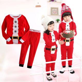 "Vaenait Baby Kids Boy Girl Christmas Clothes Sleepwear Pajama Set ""Santa Claus"""