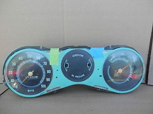 1967 72 Chevy Truck Instrument Cluster Speedometer 100 MPH 17 K GM for Parts