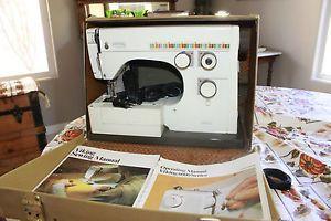 Vintage Viking Husqvarna 6430 Sewing Machine Manuals Accessories Case Works A
