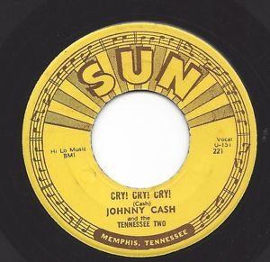 Johnny Cash Cry Cry Cry Hey Porter Sun 45