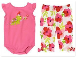 Gymboree 12 18 Months Infant Baby Girls Clothes Tropical Petal Bodysuit Pant