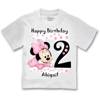 Minnie Mouse 2nd Birthday Girl T Shirt Personalized Name
