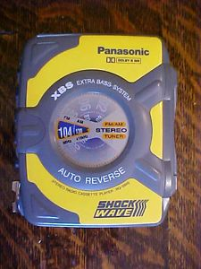 Vintage Panasonic Shockwave RQ SW6 Am FM Radio Cassette Player ABS Auto Reverse