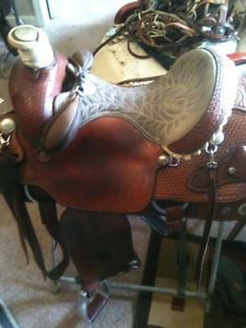 Billy Cook Dally Team Roping Saddle 16in Seat
