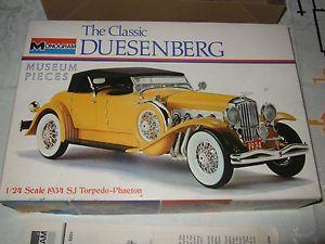 Monogram 1934 SJ Torpedo Phaeton Duesenberg 1 24 1972 Antique Car Model Kit