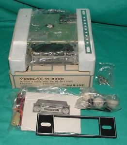 Vintage Marume 8 Track Tape Car Stereo Player NOS Unused