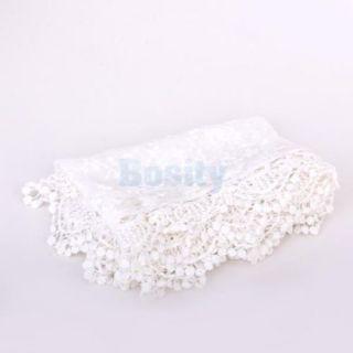5X Women Vintage Soft Flower Crochet Lace Tassels Scarf Bridal Party Shawl