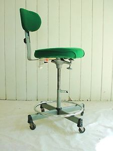 ... Vtg Industrial Cramer Adjustable Swivel Drafting Stool Desk Chair  Machine Age ...