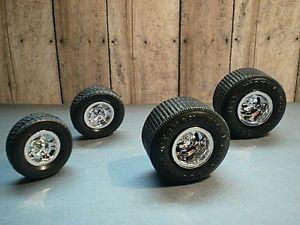 1 24 1 25 Model Car Mickey Thompson Tires Halibrand Wheels Big 'N Little Set
