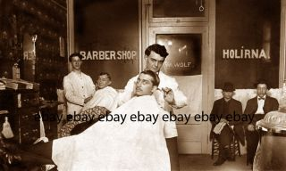 W Wolf Barbershop Holirna 2 Chair Barber Shop Wood Stove Photo