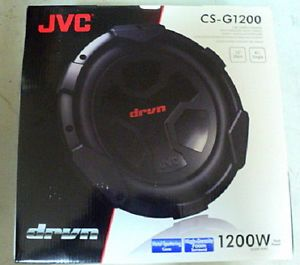 "New JVC CS G1200 12"" Single 4 Ohm DRVN Series Car Audio Subwoofer"