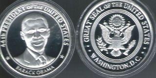 44th President Barack Obama Change Silver Commemorative Coin