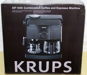 Brand New Krups XP 1500 Combination Coffee Espresso Machine 10 Cup