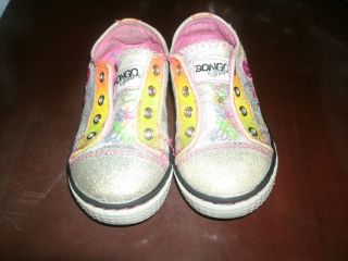 "Toddler Girls ""Bongo"" Tennis Shoes Sz 8M"