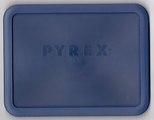 Pyrex Ware 6 Cup Storage Blue Plastic Lid Cover 7211 PC New