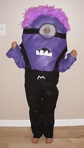 Evil Minion Costume Despicable Me Kid Child Size Homemade 4T Up to 10 Halloween