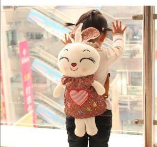 Hot Cute Baby Cartoon Rabbit Doll Backpacks Kids Plush Shoulder Bag Gift Unisex