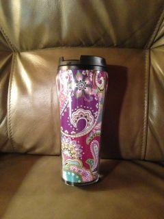 Vera Bradley Heather Travel Mug Coffee Cup Tumbler Fall 2013