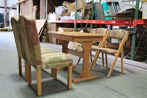 Used RV motorhome camper Interior Furniture Oak Dining Table Set of 4 Chairs