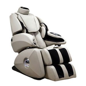 Beige Osaki OS 7075R Deluxe Zero Gravity Massage Chair Heat Roller Foot Massage