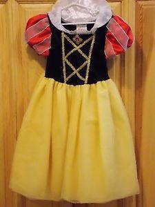 Snow White  Princess Costume Dress Girl Child XS 4 5