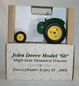 Ertl Two Cylinder Expo XI John Deere Model 60 High Seat Standard Tractor 1 16