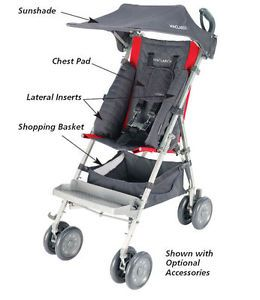 Maclaren Major Special Needs Push Chair Stroller New Red Charcoal Same Day SHIP