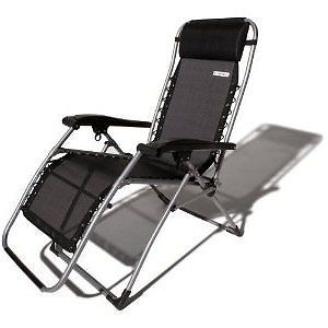 New Strathwood Basics Anti Gravity Adjustable Recliner Chair Dark with Champagne