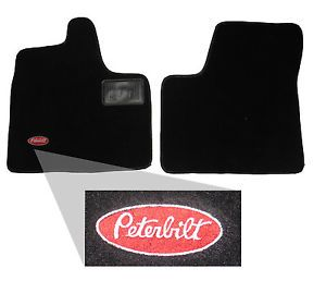 Peterbilt Floor Mats 379 388 389 Custom Fit Carpeted 2pc with Logo