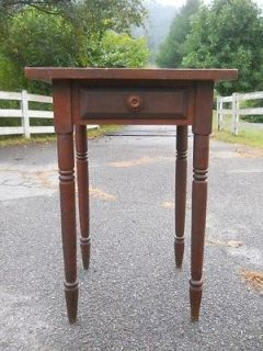 American Sheraton Period Folk Art Inlaid Parquetry Stand from s w Virginia