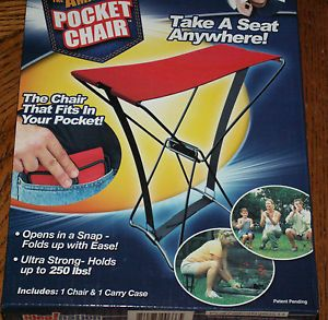 As Seen on TV The Amazing Pocket Chair Take A Seat Anywhere Holds Up to 250IBS