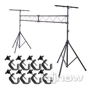 Idjnow Lighting Trussing System DJ Stage Club Truss Uplight Stand w 8x C Clamps
