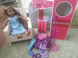 American Girl Doll Kanani with Box Chair Accessories