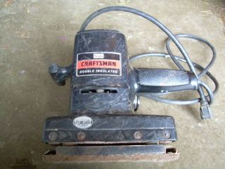 Vintage Craftsman Dual Motion Double Insulated Working Sander Model 315 11650
