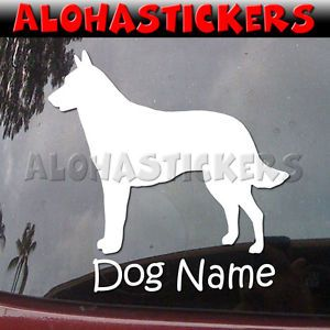Custom Belgian Malinois Dog Breed Car Laptop Vinyl Decal Window Sticker B258