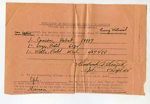 WWII US German Material Capture Letter Document Luger Walther Pistol Camera