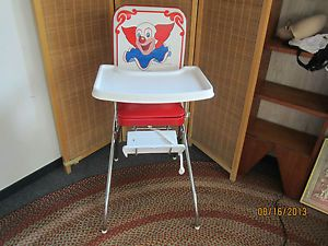 Vintage Bozo The Clown Chrome Vinyl High Chair Comfortline Awesome