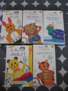 Baby Einstein VHS Lot Video VCR Back Neptune Newton Mozart  nursery Baby Kids