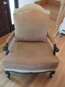 Exceptionnel ... Ethan Allen Harris Chair Custom Spice And Beige ...