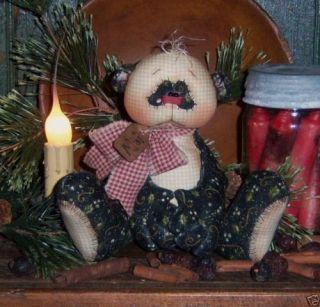 Primitive Panda Teddy Bear Ornie Rag Doll Pattern 533